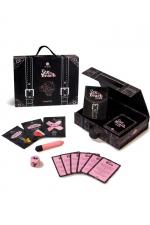 Kit de voyage Sex On The Beach - Secret Play - Magnifique coffret de jeu coquin sur le thème du sexe à la plage, avec cartes challenges, sextoy, et accessoires sexy.