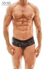 Jock Bikini Elektro - Anaïs for Men - Superbe lingerie pour homme façon shorty à l'avant et jockstrap à l'arrière, fabriqué en Europe.