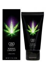 Lubrifiant retardant eau et CBD 50ml - Lubrifiant intime  à base d'eau et de CBD avec effet anesthésiant pour faire durer le plaisir.