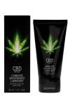 Lubrifiant CBD Eau Cannabis 50ml - Lubrifiant intime à base d'eau et de CBD, avec effet relaxant, longue durée et fort pouvoir de lubrification, tube de 50 ml.