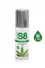 Lubrifiant S8 Hybride Cannabis 125ml - Lubrifiant Premium infusé au CBD), relaxant, ultra glissant, doux et soyeux et compatible avec les préservatifs.