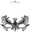 Loup broderie souple AUBE - masque noir en dentelle brodée souple, pour vos soirées déguisées ou coquines, par Maskarade.