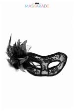 Loup semi-rigide La Traviata - Masque libertin semi-rigide, transparent et recouvert de dentelle, idéal pour vos soirées coquines et soirées déguisées.