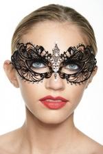 Masque v�nitien Spirit 1 - Masque v�nitien en m�tal incrust� de strass, optez pour une touche de myst�re.