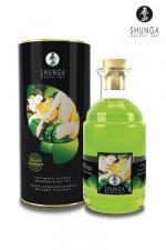 Huile chauffante thé vert BIO - 100ml - Huile aphrodisiaque comestible Bio, activée par la chaleur de la peau ou les baisers, by Shunga.