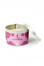 Bougie de massage Fleur de cerisier - Bougie de massage parfum Fleur de cerisier fabriquée en France pour des moments sensuels.