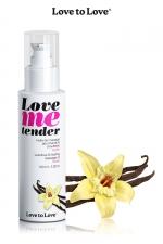 Huile de massage vanille 100ml - Huile de massage comestible goût vanille fabriquée en France par Love to Love.