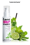 Huile de massage mojito 100ml - Huile de massage comestible goût mojito fabriquée en France par Love to Love.