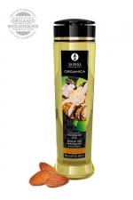 Huile de massage BIO Douceur d'amande - Shunga - Huile de massage érotique BIO et embrassable au parfum d'amande douce par Shunga.