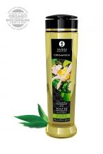 Huile de massage BIO Thé vert exotique - Shunga - Huile de massage érotique BIO et embrassable au parfum de thé vert exotiques par Shunga.