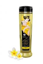 Huile de massage parfum monoï - Shunga - Huile de massage érotique Serenity au monoï pour éveiller les sens et la réceptivité amoureuse, par Shunga.