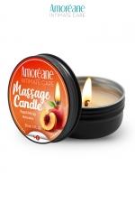 Bougie de massage pêche - Amoreane - Bougie de massage qui offre un parfait environnement chaud et sensuel pour vos moments intimes. Parfum Pêche.