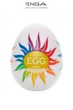 Masturbateur Tenga Egg Shiny Pride Edition - L'incontournable masturbateur masculin Tenga Egg Shiny dans un nouvel habillage Pride Edition arc en ciel.