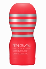 Masturbateur Original Vacuum Cup - Tenga - Amateur de gorge profonde? Le nouveau masturbateur Tenga Original permet de simuler des fellations particulièrement intenses !