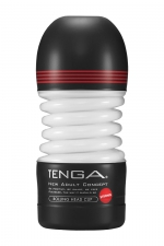 Masturbateur Rolling Head Cup Strong - Tenga - Avec sa tête pivotante, ce masturbateur flexible offre une stimulation du gland à 360° et un serrage puissant.