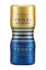 Masturbateur Premium Dual Sensation Cup - Tenga - La version Premium du masturbateur à double entrées (anal+vaginal) Tenga Dual Sensation, pour varier les expériences et les sensations
