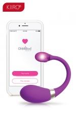 Oeuf vibrant connecté Esca 2 - Kiiroo - Oeuf vibrant Bluetooth connecté, pour vos jeux coquins en solo ou à deux, idéal pour les relations amoureuses longue distance.