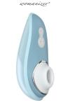 Womanizer Liberty - bleu poudre - Stimulation par pression d'air, 6 niveaux d'intensité, étanche, couvercle de protection magnétique - des orgasmes dans le monde entier.