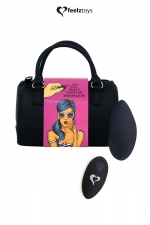Stimulateur télécommandé Panty Vibe noir - FeelzToys - Présenté dans un superbe mini sac à main, Feelztoys vous propose un stimulateur clitoridien télécommandé très puissant.