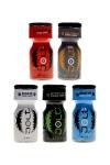 Pack 5 poppers parfumés Jolt 10ml - 5 poppers Made in France à base de propyle, parfum coco, amande, framboise, menthe et eucalyptus.