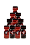 Pack 10 poppers Dominator 10ml - Pack de 5 poppers Red Dominator 10ml hybride + 5 poppers Black Dominator 10ml à l'Amyle.