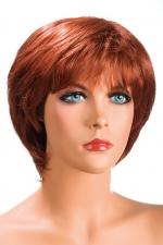 Perruque Sofia rousse - Perruque rousse aux cheveux courts ayants un aspect naturel. Elle à une jolie mèche effilée à l'avant.