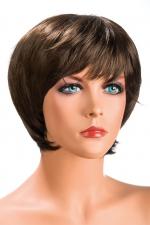 Perruque Sofia châtain - Perruque châtain aux cheveux courts ayants un aspect naturel. Elle à une jolie mèche effilée à l'avant.