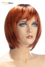 Perruque Alix rousse - World Wigs - Perruque rousse qualité Premium, avec cheveux courts en carré dégradé roux pour un look à la fois naturel et coquin.