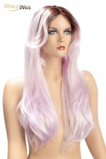 Perruque Aya parme - World Wigs - Perruque couleur parme qualité Premium, avec cheveux longs et soyeux en dégradé de parme pour un look à la fois différent et sexy.