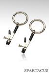 Pinces à seins Bully Ring - Paire de pinces à seins ajustables, finies par un anneau solide prêt à recevoir vos attaches.