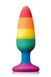 Plug anal Pride Edition Medium  - Plug anal Rainbow colours Pride  édition, 13,3 cm long x 4 cm diamètre, doté d'une ventouse puissante.