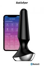Plug-Ilicious 2 Noir - Satisfyer - vibro anal connecté en silicone, 2 moteurs puissants, rechargeable et étanche, pour hommes et femmes.