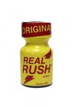 Poppers Real rush original 9 ml - Arôme Original Real Rush au nitrite de pentyle, en flacon de 9 ml.