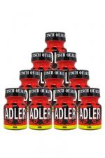 Pack 10 Poppers Adler 9 ml - Pack de 10 Flacons de 9 ml de Poppers Adler, arôme liquide érotique à base de Nitrite de Penthyl (le plus fort).