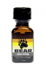 Poppers Bear 24 ml - Puissant odoriser aphrodisiaque offrant des sensations rapides et intenses, formulé à partir de nitrites d'ispopropyle.