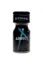 Poppers Addict 10ml - Le Poppers Addict est un arôme aphrodisiaque au Nitrite d'Amyle, offrant des sensation ultra fortes (flacon de 10 ml).