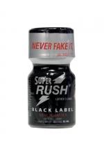 Poppers Super Rush Black Label 10 ml - Arôme liquide aphrodisiaque (flacon de 10 ml)à base de Nitrite de Penthyl (le plus fort), pour aromatiser votre pièce.