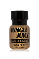 Poppers jungle juice gold label 10 ml - Poppers Jungle Juice à base d'Amyle, en version gold extrême en raison de l'intensité et de la pureté de sa formule.