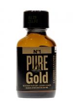 Poppers Pure Gold 24ml - Poppers à base de nitrite d'amyle, ultra fort et ultra pur, pour des moments festifs intenses.