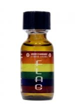 Poppers Flag 25ml - Un arôme aphrodisiaque ultra fort  au Nitrite d'Amyle, (flacon de 25 ml)aux couleurs de la communauté LGBTQ.