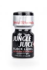 Poppers Jungle Juice Black Label 10ml - Nouvelle formule extrême, extra forte, à base d'Isoamyle nitrite pour le Jungle Juice black Label (flacon de 10 ml).