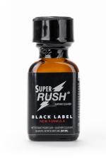 Poppers Super Rush Black Label 24 ml - Arôme liquide aphrodisiaque (en flacon de 24 ml,à base de Nitrite d'Amyle, pour aromatiser votre pièce.