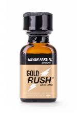 Poppers Gold Rush 24 ml - A base de nitrite d'Amyle, c'est un poppers fort et progressif très apprécié des connaisseurs.