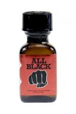 Poppers All Black 24 ml - le poppers exclusif du fabricant de godes géants All Black,  basé sur la molécule historique à l'Isopropyle