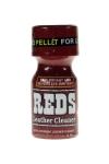 Poppers Reds 10 ml - Arôme aphrodisiaque anglais ultra fort à base de nitrite de propyle, avec bouchon Pellet sécurisé.
