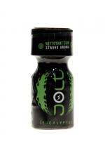 Poppers Jolt Black Eucalyptus 10ml - Puissant arôme d'ambiance aphrodisiaque à l'odeur d'eucalyptus. Poppers made in France by Jolt, Nitrite de Propyle, flacon de 10 ml.