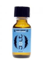 Poppers Jolt Blue Menthe 25ml - Puissant arôme d'ambiance aphrodisiaque à l'odeur de menthe. Poppers made in France by Jolt, Nitrite de Propyle, flacon de 25 ml.