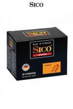 50 préservatifs Sico RIBBED - 50 préservatifs haute qualité avec de fines rainures pour accroitre la stimulation sexuelle de votre partenaire.