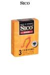 3 préservatifs Sico RIBBED - 3 préservatifs haute qualité avec de fines rainures pour accroitre la stimulation sexuelle de votre partenaire.