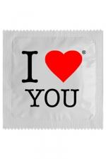 Préservatif humour - I Love You - Préservatif I Love You,  un préservatif personnalisé humoristique de qualité, fabriqué en France, marque Callvin.